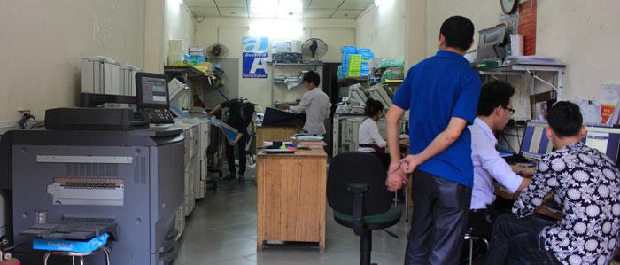 Cửa hàng photocopy chuyên nghiệp khu vực Hà Nội