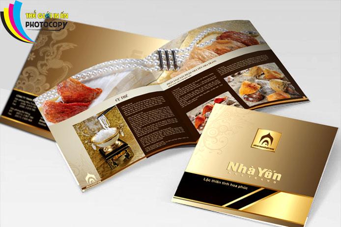 Catalogue đẹp màu nâu cafe ấn tượng mạnh