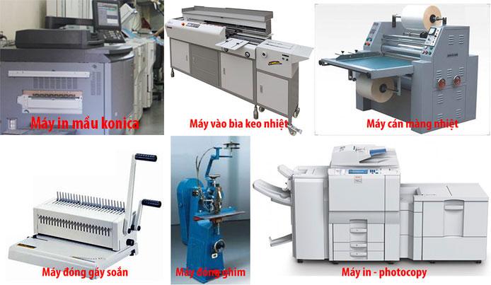 cửa hàng photocopy, máy in, máy photocopy