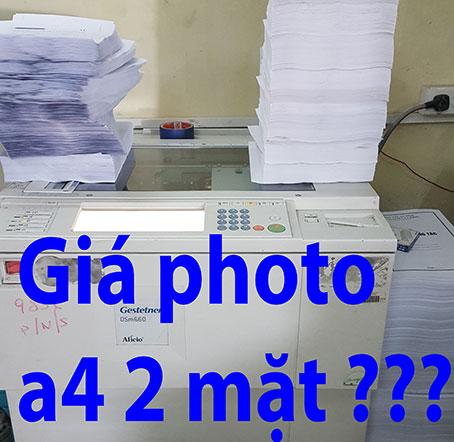 giá photo a4 2 mặt