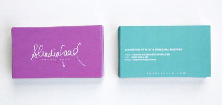 card visit đẹp, hồng và xanh - sự kết hợp hoàn hảo