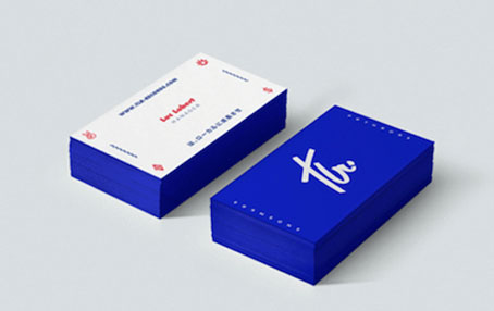 card visit đẹp, xanh và trắng, đơn giản mà hiệu quả