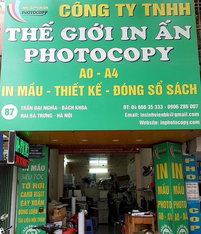 quán photocopy chuyên nghiệp