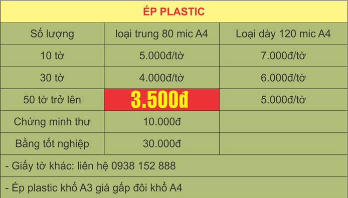 Ép Plastic giá rẻ lấy ngay
