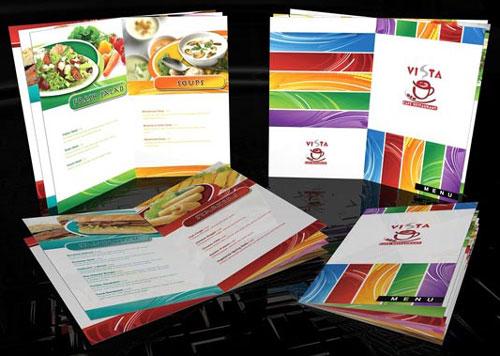 menu dạng sách đẹp - in menu nhà hàng