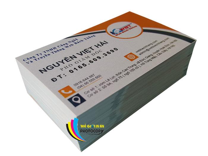in card visit đẹp lấy ngay giá rẻ giao hàng tận nơi tại Hà Nội
