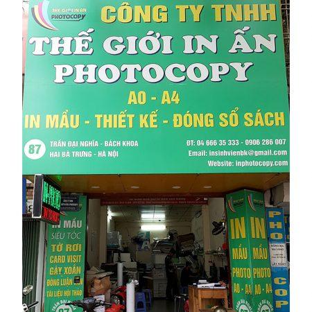 Công ty TNHH Thế giới in ấn và Photocopy