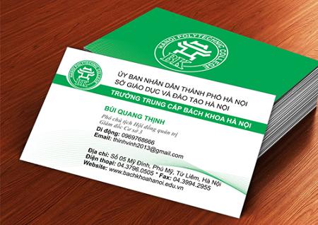 Một mẫu card visit cá nhân đẹp bên giáo dục