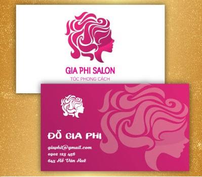 Mẫu card visit cá nhân đẹp cho người làm tóc