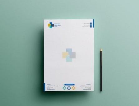 In mẫu letterhead đẹp cho công ty, doanh nghiệp