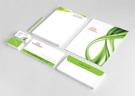 Mẫu thiết kế letterhead đồng bộ với card visit-phong thư