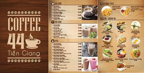 Mẫu thiết kế menu nhà hàng đơn giản