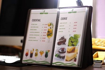 Thiết kế thực đơn nhà hàng đẹp