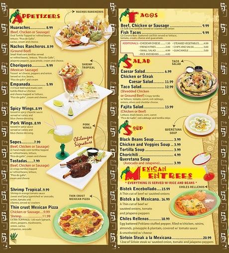 Thiết kế menu nhà hàng theo món ăn