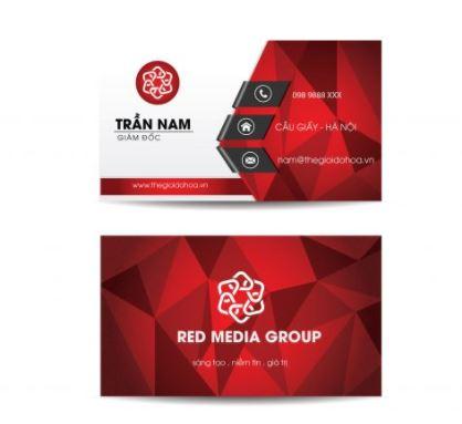 Mẫu card visit giám đốc công ty Red Media Group