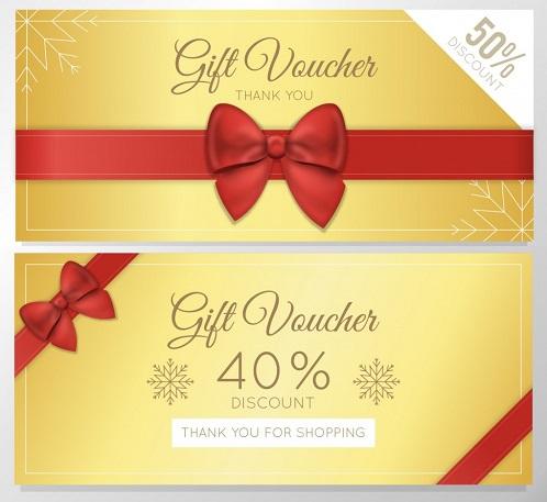 Một trong các mẫu thẻ giảm giá đẹp cho dịp Noel