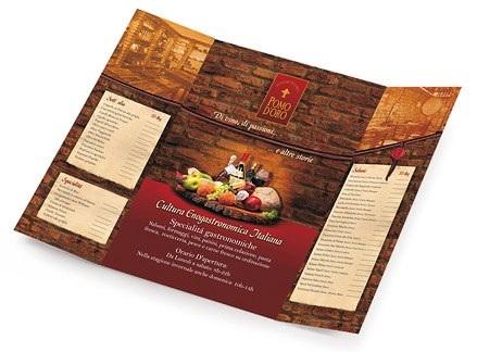 Một mẫu menu nhà hàng với phong cách cổ điển