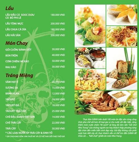 Mẫu thiết kế thực đơn món ăn với màu xanh chủ đạo