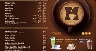 Thiết kế menu cafe đẹp