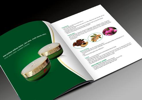Hình ảnh mẫu in catalogue cho mỹ phẩm chăm sóc da