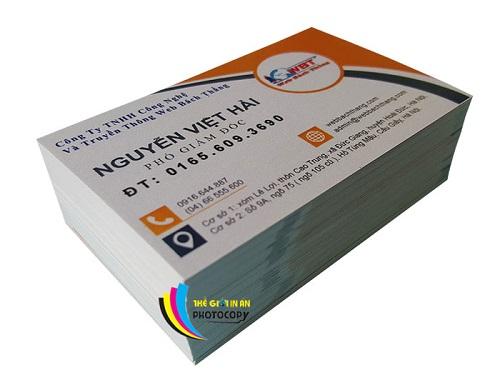 Chất liệu giấy in card visit tại Thế Giới In