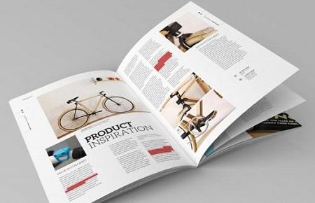 Mẫu catalogue kích thước khổ A4 đứng