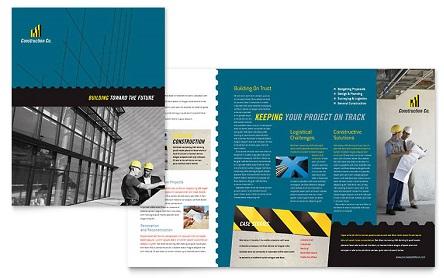 Mẫu brochure công ty xây dựng đẹp và ấn tượng