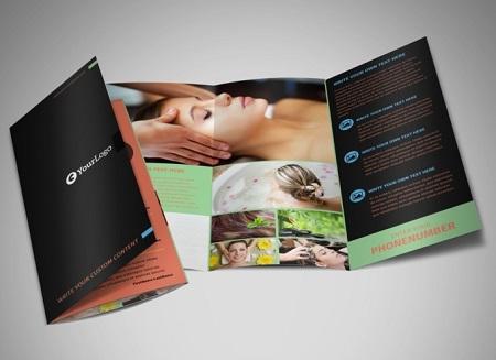 Hình ảnh mẫu brochure đẹp dịch vụ chăm sóc tóc