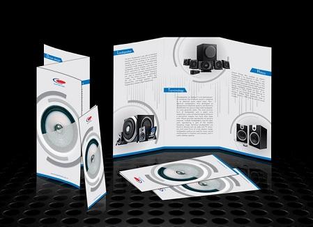 Mẫu brochure sản phẩm đẹp kích thước A4 gấp 3