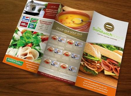 Mẫu brochure nhà hàng