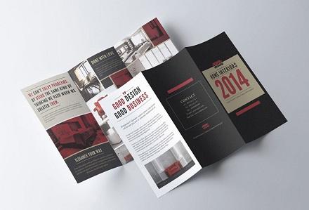 Mẫu brochure nội thất ấn tượng