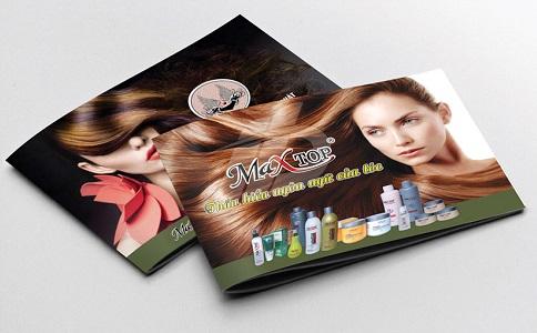 Mẫu trang bìa catalogue dành cho sản phẩm chăm sóc tóc
