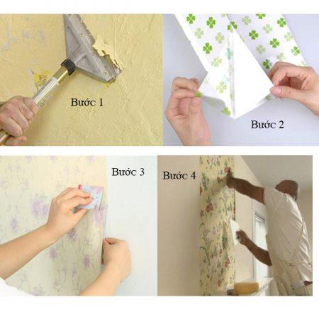 cách dán decal lên tường dạng cuộn