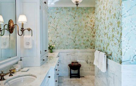 Mẫu giấy dán tường cho nhà tắm