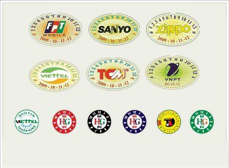 Thiết kế tem bảo hành logo công ty