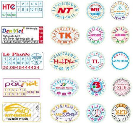 thiết kế tên doanh nghiệp trên tem bảo hành