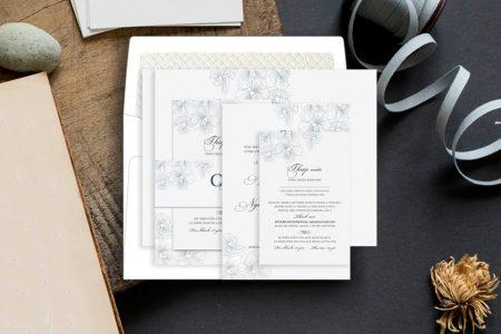 thiệp cưới phong cách tối giản