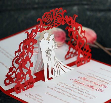 Mẫu thiệp cưới đẹp lạ