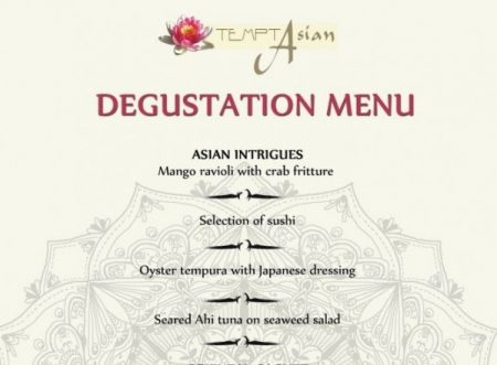 Degustation menu