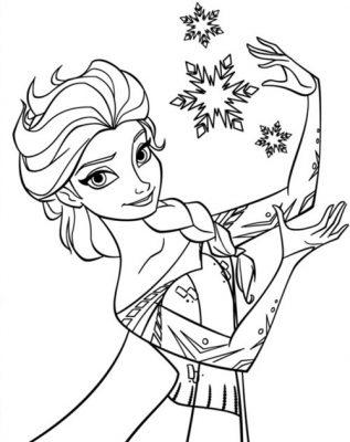 Sách tô màu công chúa elsa